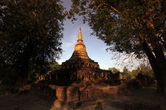 ASIA THAILAND SUKHOTHAI TEMPLE WAT CHANG LOM Stock Images