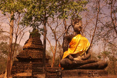 ASIA THAILAND SUKHOTHAI TEMPLE WAT  KHAP PHANOM PHLOENG Royalty Free Stock Photography