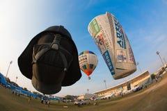 Asia Thailand underneath a balloon Royalty Free Stock Photo