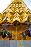 asia Thailand w Bangkok świątyni i kolor religii Fotografia Royalty Free