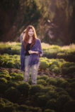 Asia tourist woman on vegetable farm at angkhang mountain Thaila Royalty Free Stock Photo