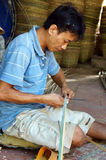 Asia trade village, bamboo basket, Mekong Delta Stock Photo