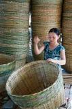Asia trade village, bamboo basket, Mekong Delta Royalty Free Stock Images