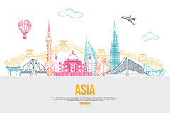 Asia travel background with place for text Stock Photography