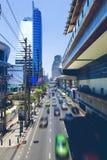 Asia travel.Bangkok city and traffic Royalty Free Stock Images