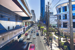 Asia travel.Bangkok city and traffic Royalty Free Stock Photos