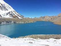 Tilicho lake stock image