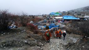 Pilgrimage Nepal life royalty free stock photography
