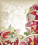 Asia Wedding Card. Illustration of abstract floral background in asia style Royalty Free Stock Photography