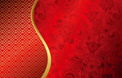 Asia Wedding Invites. Illustration of abstract red and gold floral background for asia wedding invites purposes Royalty Free Stock Photos