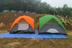 Asia,Winter camping Tourism of the rest. Stock Photography