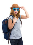 Asia woman backpacker Royalty Free Stock Images