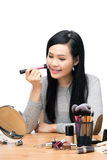 Asia woman make up Stock Images
