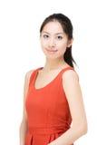 Asia woman portrait. Isolated on white Royalty Free Stock Photos