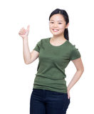 Asia woman thumb up Stock Photos