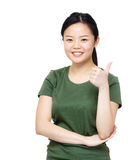Asia woman thumb up Stock Images