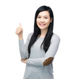 Asia woman thumb up Royalty Free Stock Photos