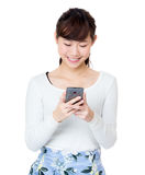Asia woman using mobile Royalty Free Stock Photo