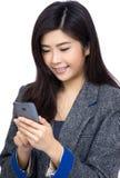 Asia woman using mobile Stock Photos