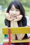 Asia women thai teen relax On Park Royalty Free Stock Photos