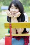 Asia women thai teen relax On Park Royalty Free Stock Image