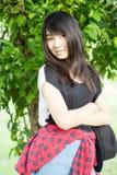 Asia women thai teen relax On Park Stock Photos
