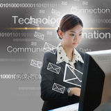 Asia yong businesswoman working Stock Photos