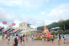 Asia,china,Shenzhen,The exit of happy valley Theme Park Royalty Free Stock Photos