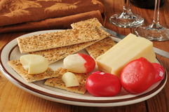 Asiago and assorted cheeses Royalty Free Stock Photo