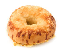 Asiago Bagel Stock Photo