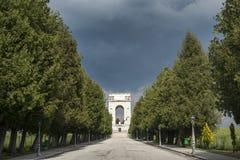 Asiago, Monument für die Opfer des I WW Stockbild