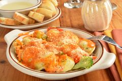 Asiago Ravioli Primavera Royalty Free Stock Photography