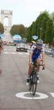 Asiago VI, Italien - Maj 27, 2017: Cyklister under de cykla rommarna Arkivfoton