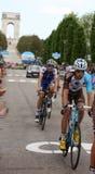 Asiago VI, Italien - Maj 27, 2017: Cyklister under de cykla rommarna Royaltyfri Bild