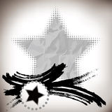 Asian abstract brushwork and five-pointed star Stock Image
