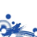 Asian abstract brushwork illustration. Background Royalty Free Stock Photo