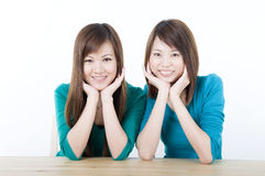 Asian adults smiling Royalty Free Stock Images
