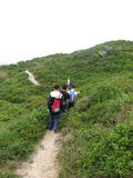 Asian Adventure team. On weekends, Explorers will start across the desolate island in SHENZHEN stock photography