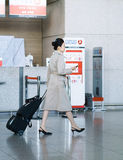 Asian air flight hostess in International airport of Incheon Royalty Free Stock Photography