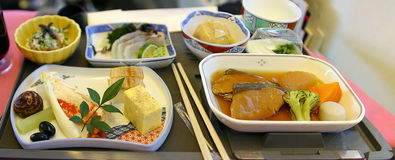 Asian airline food Royalty Free Stock Photography
