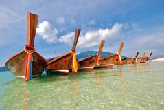 Asian albacore boat in paradise. Thailand Stock Photography
