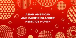 Free Asian American And Pacific Islander Heritage Month. Vector Banner For Social Media, Card, Poster. Illustration With Text, Chinese Royalty Free Stock Photo - 216581485