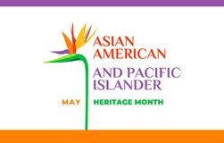 Free Asian American And Pacific Islander Heritage Month. Vector Banner For Social Media, Card, Poster. Illustration With Text, Tropical Stock Images - 180315154