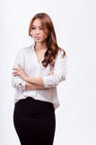 Asian American businesswoman with crossed arms Royalty Free Stock Images