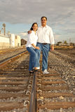 Asian American couple Portrait photographed in an stock images