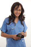Asian american healthcare worker Stock Image