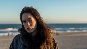 Asian-American novo em Carolina Beach norte no inverno imagens de stock