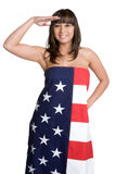Asian American Saluting Stock Photos