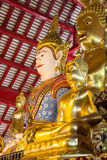 Asian angel and golden buddha statue Stock Photography
