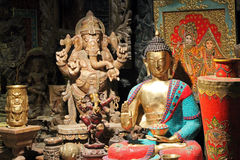 Asian antique statues Stock Images